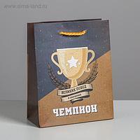 Пакет ламинированный вертикальный «Чемпиону», S 12 × 15 × 5.5 см