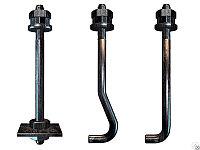 Болты изогнутые фундаментные Тип-2 ИСП 1 ГОСТ 24379.1-80