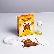 Набор для творчества «Лучистые кристаллы»: Медвежонок в колпачке, цвет жёлтый 12*5см, фото 3