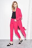 Женские осенние розовые нарядные брюки BURVIN 7320-11 42р.