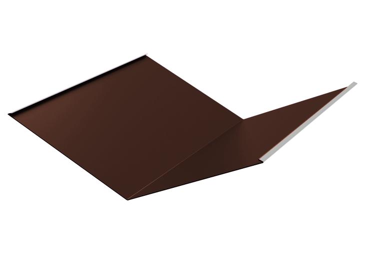 Планка ендовы нижняя 298х298х2000 мм Глянец Коричневый RAL 8017