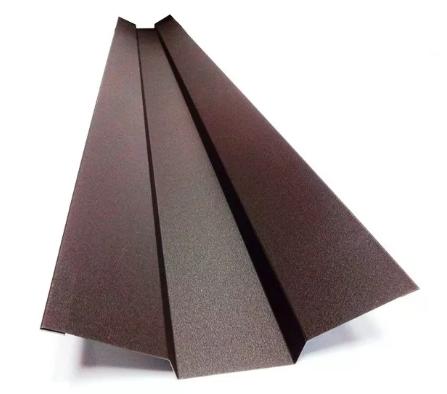 Планка ендовы верхняя 76х76х2000 мм Матовый Коричневый RAL 8017