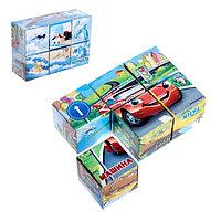 Кубики «Транспорт», 6 штук (картон), фото 1