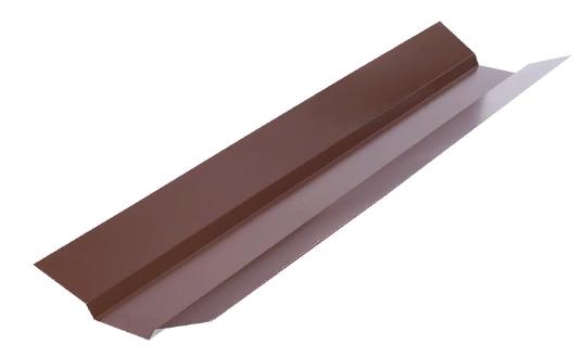 Планка ендовы верхняя 76х76х2000 мм Глянец Коричневый RAL 8017