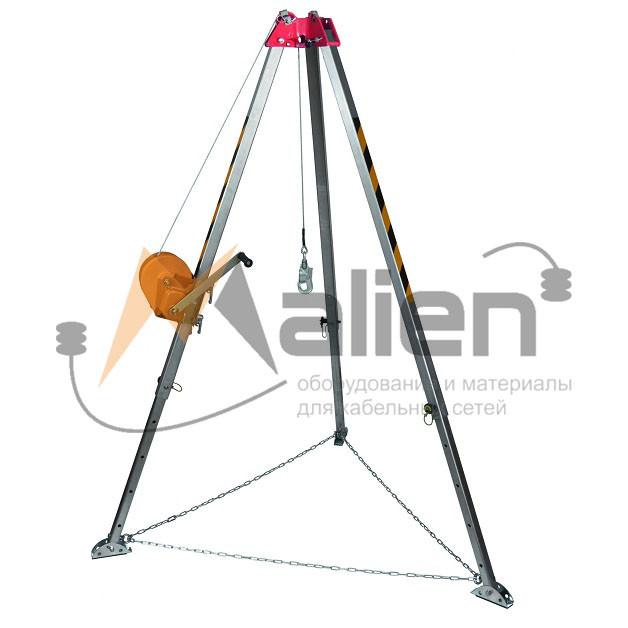Штатив-тренога (трипод) ШТ-01-10 (ТМ-1л), г/п 250кг, длина троса 10м