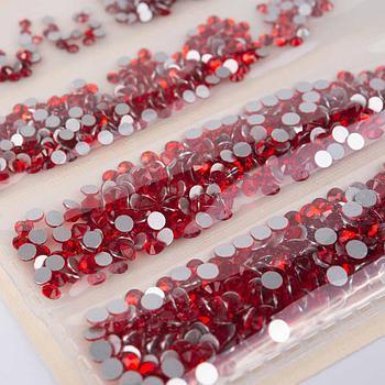 Стразы MIX  для дизайна ногтей. Красные. 1440 шт