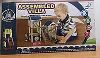 Конструктор домик с фигупками и машинками