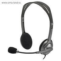 Наушники с микрофоном Logitech H111 1.8м накладные оголовье (981-000593) серый