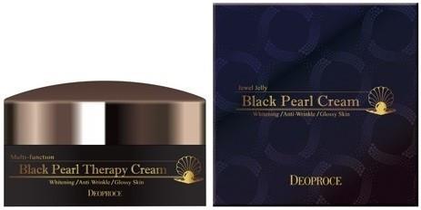 Deoproce Cream Крем для лица с черным жемчугом антивозрастной Black Pearl Therapy Cream 100 гр