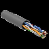 ITK Кабель связи витая пара U/UTP кат.6 4х2х23AWG PVC серый (305м)