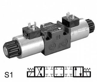 DS3-S1/11N-D00 - Распределитель гидравлический CETOP 03, Элм.-Элм., 100 л/мин, 350Бар, под катушки постоянного