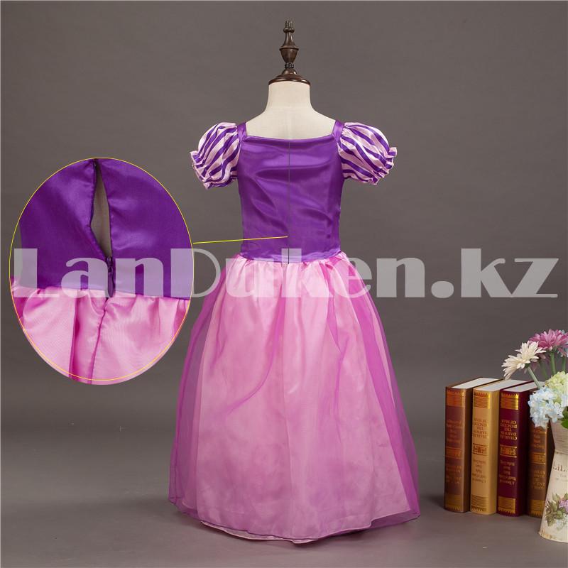 Костюм детский карнавальный Рапунцель принцесса для девочек фиолетовое BN-8002 - фото 3