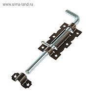 Задвижка дверная ЗД 110-Гб-SL, цвет бронзовый металлик/цинк