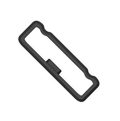 Силиконовая пряжка-кольцо-держатель для ремешка Garmin Fenix 5x 26мм (черный)