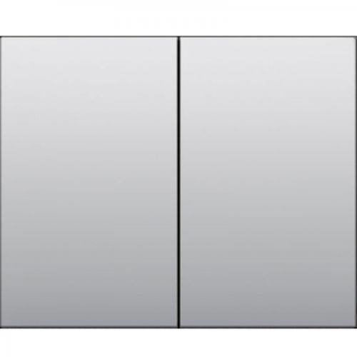 Лицевая панель для двойного выключателя Алюминий /771312/