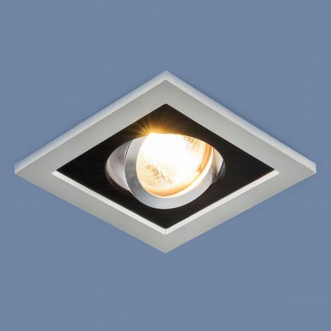 1031/1 MR16 / Светильник встраиваемый SL/BK серебро-черный