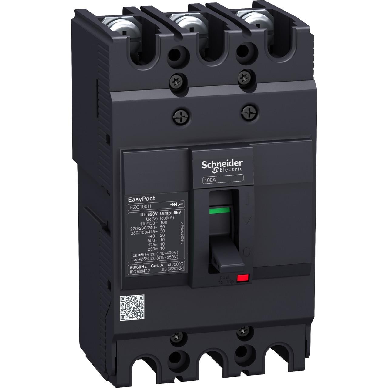 Автоматический выключатель EZC100 10kA/400В 3P3Т 63A /EZC100F3063/