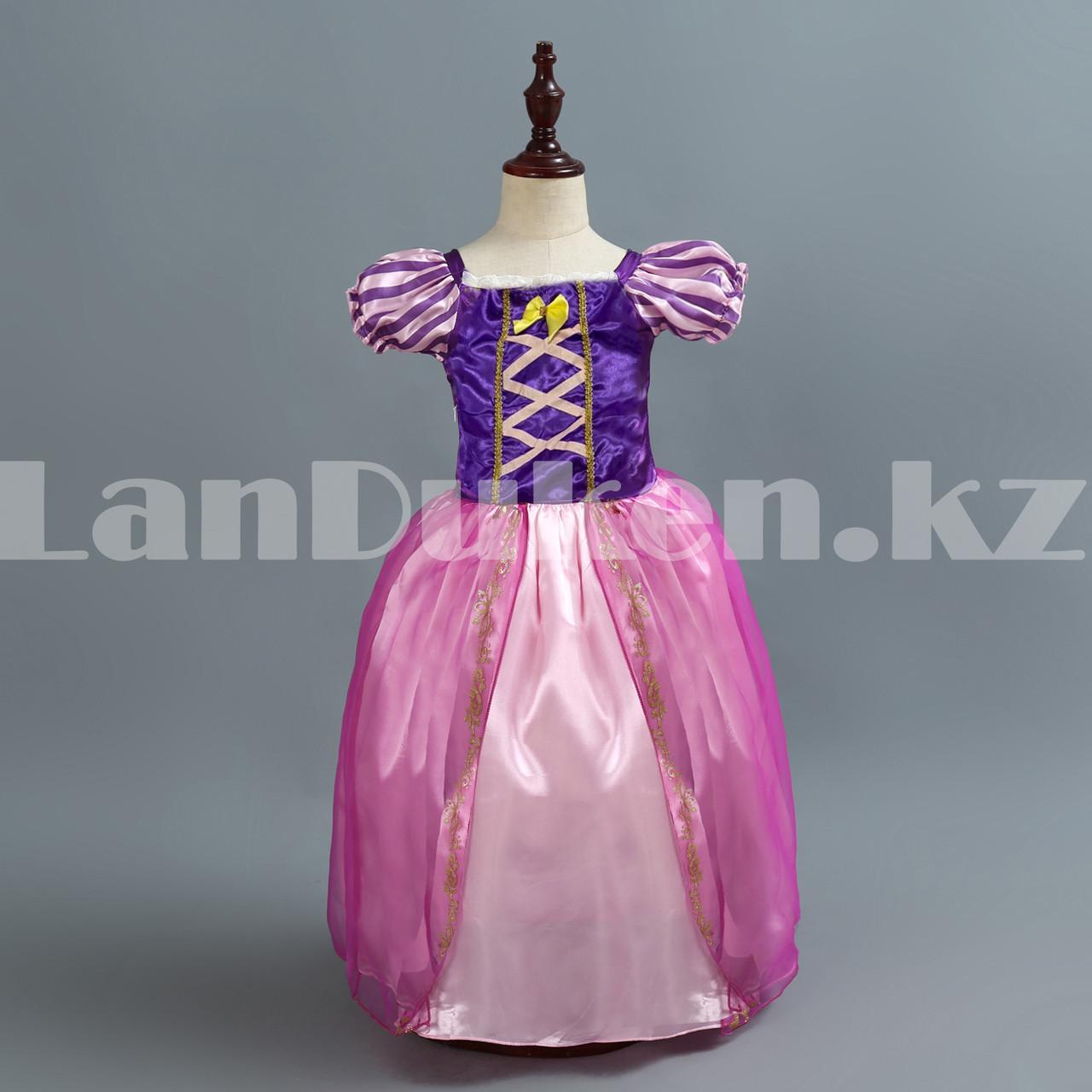 Костюм детский карнавальный Рапунцель принцесса для девочек фиолетовое BN-8002 - фото 2