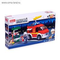 Конструктор «Пожарный фургон», 136 деталей