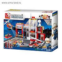 Конструктор «Пожарная станция», 612 деталей