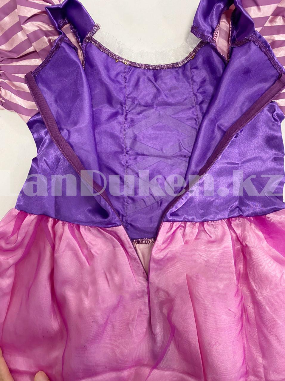 Костюм детский карнавальный Рапунцель принцесса для девочек фиолетовое BN-8002 - фото 9