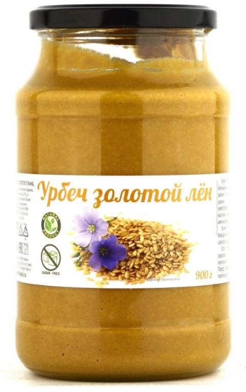 Урбеч из семян золотого льна, 900 г