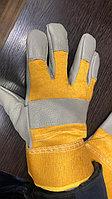 Перчатки кожаные утепленные, рабочие спилковые перчатки, перчатки утепленные