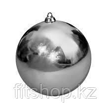 Большие новогодние шары серебристого цвета  Диаметр 15 см