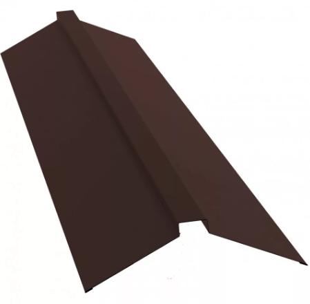Планка конька плоского 190х190х2000 мм Матовый Коричневый RAL 8017
