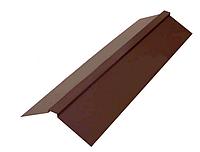 Планка конька плоского 190х190х2000 мм Глянец Коричневый RAL 8017