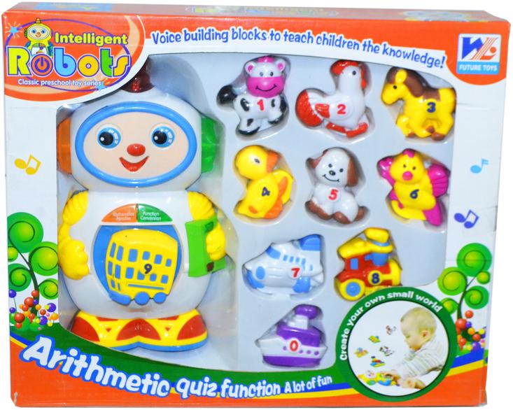 388 Немного помятая !!! Игровой набор робот intelligent Robots на английском