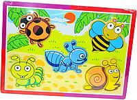 Пазл вкладыш для малышей животные, насекомые