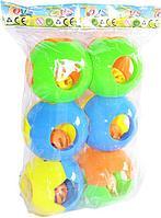 010-2 Погремушка круг набор из 6шт  цена за упаковку26*19см