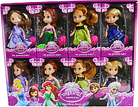 8780 My first Princess Принцессы 4 вида из 8шт 17*10см цена за 1шт