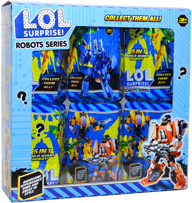 J 03 LOL Surpries Robots Series Трансформер ЛОЛ из 6шт цена за 1 шт 16*11см(реплика,аналог)  LOL/18