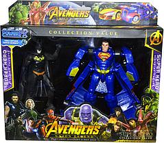 Помятая упаковка!!! 9965 Трансформеры мстители 2 в 1  Avengers 32*29