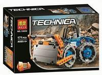 10822 Конструктор TECHNICA 2 в 1 трактор бульдозер  171 дет 27*17