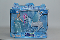 Помятая упаковка!!! JHD 689-9 Кукла холодное сердце с крылатым единорогом 28*23