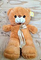 Мишка коричневый полосатый бантик  - 53см