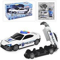 660-A206 Полицейская машина - превращается в гараж для машин 36*18см