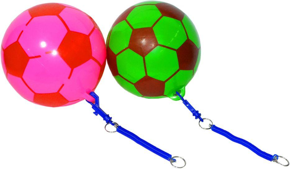 """Только розовый цвет!""""!! 2019-61 Мяч футбольный гелевый резинкой разные расцветки 19*19см"""