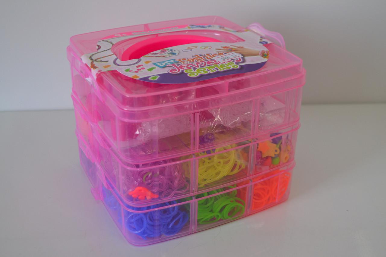 Трещина небольшая!!! браслеты чемодан 3 ячейки станок игрушка для творчества чемодан сломан