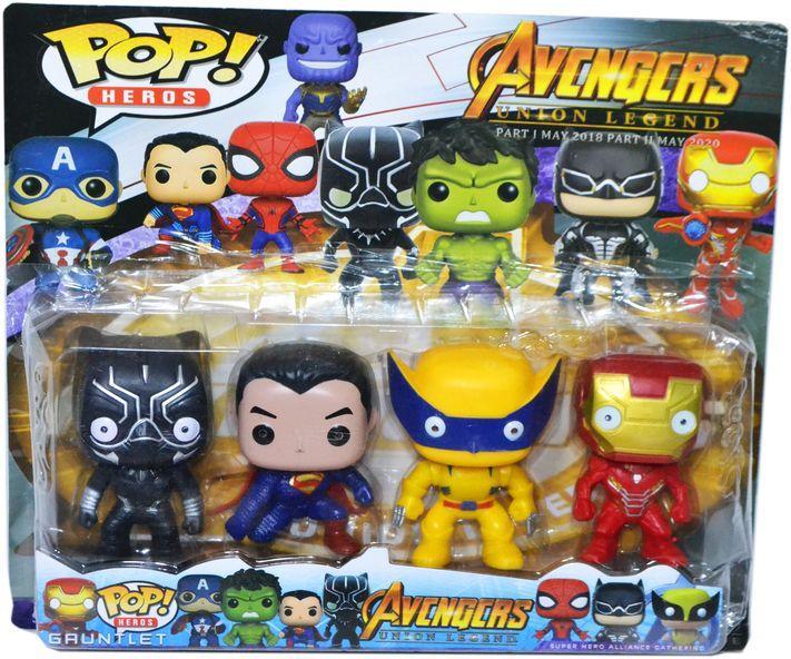 XZ-663 Мстители 4шт  POP Heros Avengers 35*29см