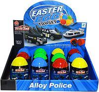 660-A210 Полицейские машинки в яйце сюрпризе из 12шт цена за 1шт 9*6см, фото 1