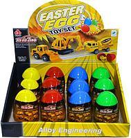 660-A211 Строительные машинки в яйце сюрпризе из 12шт цена за 1шт 9*5см, фото 1