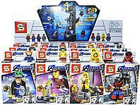 1368 Мстители конструктор 8 видов из 16шт цена за 1шт 16*11см