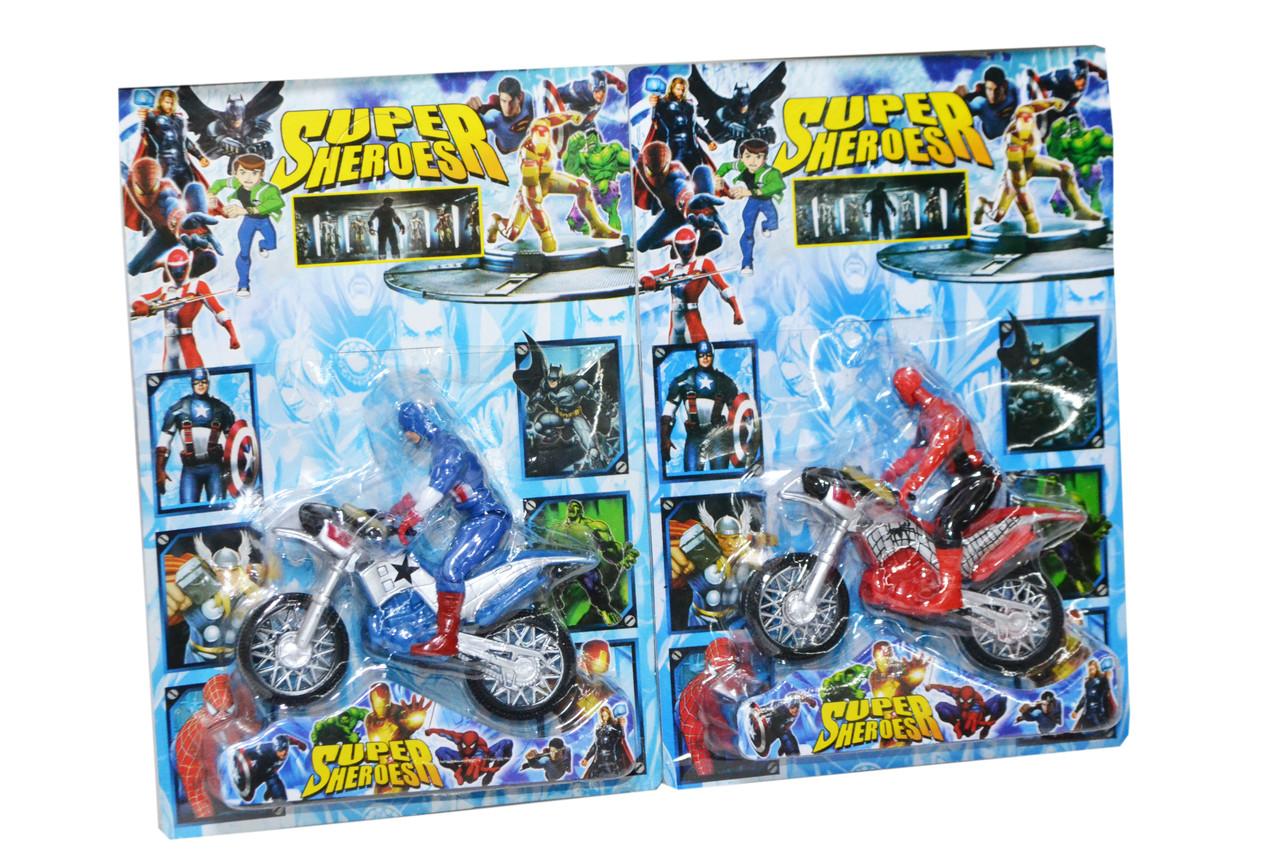 12281 Мстители разные герои на мотоциклах  на картоне Super Heroes 29*20см