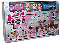 K5632 LOL AIRLINER ЛОЛ пассажирский самолет, 2 куклы, 3 капсулы