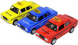 688-11DP Жигули такси металл модель,двери открываются,звук,3цвета,12шт в упаковке,15*7см