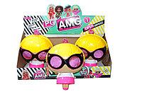 PG8024 AMG Сумочка-Кукла ЛОЛ с очками (сюрприз,светится) 3шт в уп,цена за 1шт, 25*18см